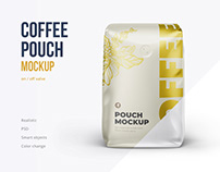 Coffee pouch Front view mockup