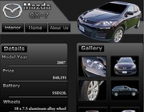 Mazda CX-7 Webpage Advertisement