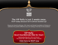 Heart and Stroke VIP Rally invitations