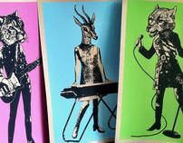 Animal Rock Band Prints