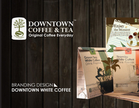 DOWNTOWN WHITE COFFEE | BRANDING & PROMOTION DESIGN