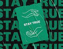 STAY TRUE | Identity for clothing brand