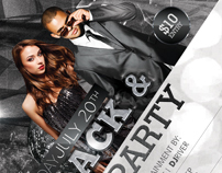 Black and White Party Flyer + Facebook Cover