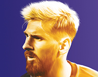 Reborn of Messi - Illustration for the Fitbol Magazine