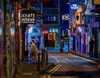 neon night in Hong Kong
