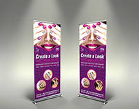 Nail Salon Signage Roll-Up Banner Template