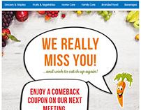 Miss You Mailer Design for Grocermax.com