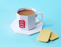 The BBC - Pricey Tea Mockup