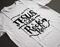 "Arte para Camisetas ""Jesus, Vida e Rock'n Roll"""