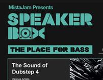 Speaker Box: The Place for Base - Website Design