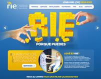 Rie Rehabilitación Web Design