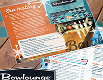 Menu Design • Bowlounge