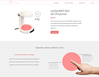 NailSmart: The Nail Art Projector (web design)