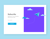 Daily UI #026 - Subscribe