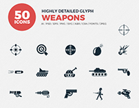 JI-Glyph Weapons Icons Set
