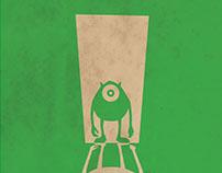 Minimalist Disney/Pixar Posters