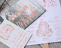 Steph + Nate's Wedding Stationery