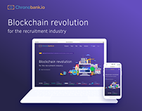 Website for Chronobank. Blockchain project