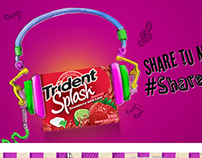 Trident Gum Social Media Art Direction and Ilustration