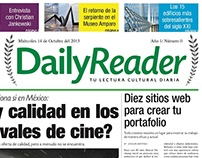 Primera página de un periódico cultural
