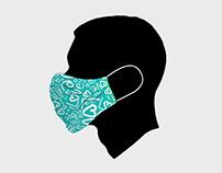 Face Mask Vector Mockup