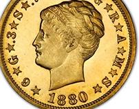 Stella $4 Gold Coin 1879-1880