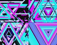 Triangular Neon - VJ Loop Pack (4in1)