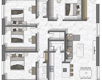 Floor plan 2D rendering in Suisse.