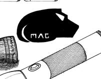 Maglite flashlight sketching