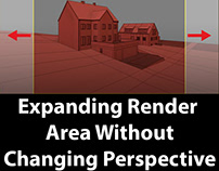 How to expand the render area without changing perspect