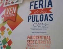 "Afiche ECS ""Feria de las Pulgas"""