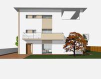 Propuesta fachadas en ampliación de vivienda