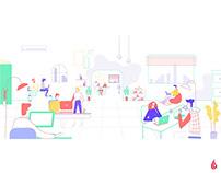 Office series Illustrations