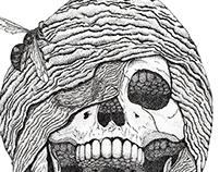 Skull in Nest
