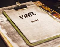 Vinyl Bar and Restaurant Menu Design