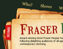 Fraser Hooper - World Class Clown Website