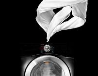 LG steam washing machine key visual.