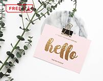 Free Invitation Cards Mockup