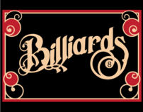 Billiards Typography Poster