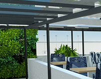 GO GREEN CAFETARIA 3D VISUALIZATION