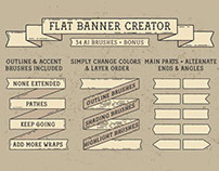 Flat Banner Creator for Adobe Illustrator