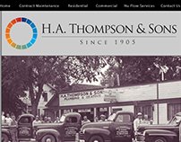 H.A. Thompson Hompage Mockup