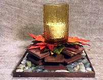 Autumn Bonfire Handcrafted Decorative Candleholder