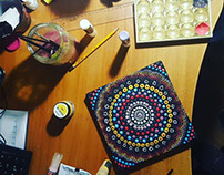 Colorful dotting mandala