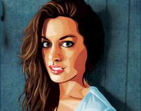 Anne Hathaway - Vector Portrait