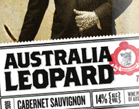 Australia Leopard Wine Label