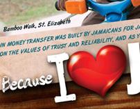 Jamaica National Money Transfer Wall Wrap