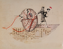 Analog collage: oh my heart
