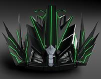 Futuristic vehicle model