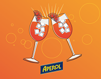 Aperol - Press release illustrations